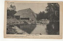 YORK, Maine, USA, Lumber Sawmill On River, 1906 UB Bothwick Postcard - United States