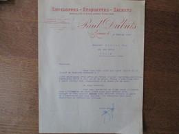 ROANNE  PAUL DUBUIS ENVELOPPES-ETIQUETTES-SACHETS ENVELOPPES VITRIFIEES COURRIER DU 4 FEVRIER 1930 - 1900 – 1949