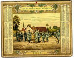 CALENDRIER ORIGINAL  1917 DANS LE NORD LE COLONEL DU 231° EPINGLE LA CROIX DE GUERRE  ETC    -  MILITARIA   SANS FEUILLE - Calendari