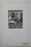 Ex-libris Illustré Belgique XXème - Chevalier - JOHN LANE MULLINS - Sigle ABCDE Imprimé Dans Le Bas - Ex-libris