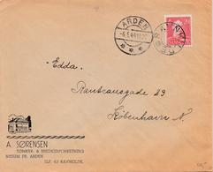 Denmark.  Letter With Starcancellation RAVNKILDE - 1913-47 (Christian X)