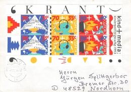 NETHERLANDS - LETTER 1993 HENGELO - NORDHORN KRANT Mi #MINISHEET 1462/1463 - Period 1980-... (Beatrix)