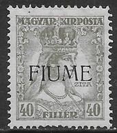 Italia Italy 1918 Fiume Carlo E Zita 40f Sa N.26 Nuovo MH * - Fiume