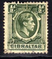 Gibraltar 1938 - 51 KGV1 1/2d Deep Green SG 121 ( T491 ) - Gibraltar