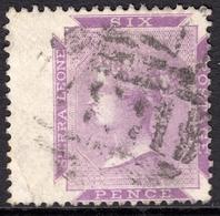 Sierra Leone 1872 6d Reddish Violet SG3 - Fine Used - Sierra Leone (...-1960)