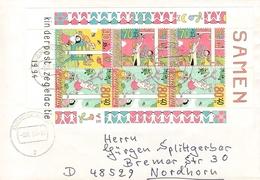 NETHERLANDS - LETTER 1994 DENEKAMP - NORDHORN KINDERPOST Mi #BLOCK 42 - Period 1980-... (Beatrix)