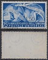 Italia Italy 1949 UPU Sa N.599 Nuovo Integro MNH ** - 6. 1946-.. Repubblica