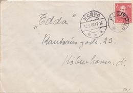 Denmark.  Letter With Starcancellation KLEITRUP - 1913-47 (Christian X)
