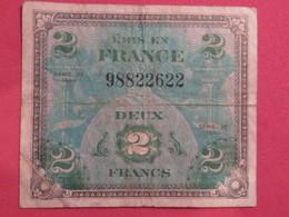 Billet 2 Francs DRAPEAU FRANCE 1944 Impr.américaine - France