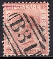 Sierra Leone 1872 1d Rose Red SG7 - Fine Used - Sierra Leone (...-1960)