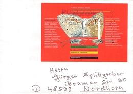 NETHERLANDS - LETTER 1993 UTRECHT - NORDHORN BUTTERFLY Mi #BLOCK 38 - Period 1980-... (Beatrix)