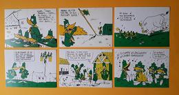 6 CP - Le Pivert - Benoi - Fédération Nationale Des Patros - Gilly - Humour - Scoutisme