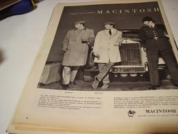 ANCIENNE AFFICHE PUBLICITE MACINTOSH SOCIETE DUNLOP 1958 - Habits & Linge D'époque