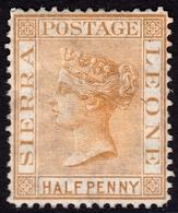 Sierra Leone 1876 1/2d Brown SG16 - Unused - Sierra Leone (...-1960)