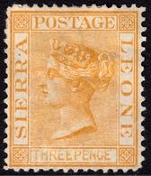 Sierra Leone 1876 3d Buff SG20 - Mint Hinged - Sierra Leone (...-1960)