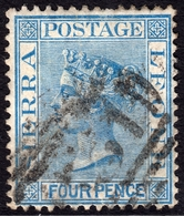 Sierra Leone 1876 4d Blue SG21 - Fine Used - Sierra Leone (...-1960)