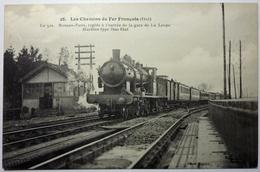 LE 512 . RENNES - PARIS ,RAPIDE Á L'ENTRÉE DE LA GARE DE LA LOUPE - LES CHEMINS DE FER FRANÇAIS - Eisenbahnen
