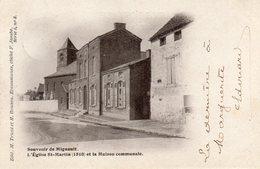 Mignault.L'Eglise St-Martin(1510) Et La Maison Communale. - Belgique