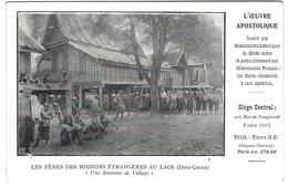 Les Pères Des Missions étrangères Au Laos - Une Réunion De Village - Mission Religieuse - Laos