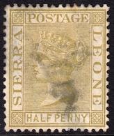 Sierra Leone 1883 1/2d Brown SG23 - Mint Space Filler - Sierra Leone (...-1960)