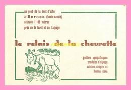 CARTE DE VISITE  Au Relais De La Chevrette  à BERNEX  Haute Savoie - Cartes De Visite