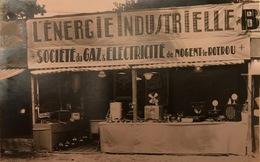 NOGENT LE ROTROU Carte-photo Foire Société De Gaz Et Electricité - Nogent Le Rotrou