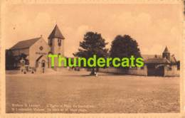 CPA WOLUWE ST LAMBERT EGLISE  PLACE DU SACRE COEUR - St-Lambrechts-Woluwe - Woluwe-St-Lambert