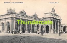 CPA BRUXELLES LA GARE DU MIDI - Spoorwegen, Stations
