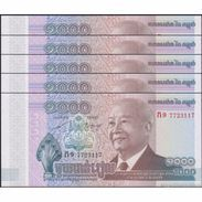TWN - CAMBODIA 63 - 1000 1.000 Riels 2012 DEALERS LOT X 5 UNC - Cambogia