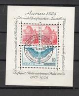 1938  EMISSIONS AVEC SURTAXE   BLOC  N° 11  OBLITERE  COTE 45.00 FRS.  VENDU A 15% 6.00 FRS.   CATALOGUE ZUMSTEIN - Blocks & Sheetlets & Panes