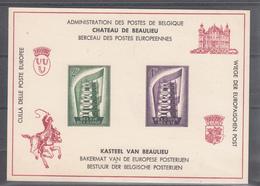 Feuillet De Luxe Europa 1956. Chateau De Beaulieu, Berceau Des Postes Européennes - Europa-CEPT