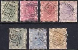 Sierra Leone 1884 1d, 2d, 2.5d & 4d - Fine Used - Sierra Leone (...-1960)