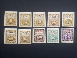 Czechoslovakia - 1920 - Mi:CS-SO P1-5a,7-11a, Yt:CS-SO T1-5,7-11*MH - Look Scan - Slowakische Republik