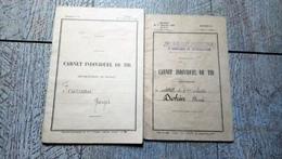 Lot 2 Carnet Individuel De Tir 131e Régiment Infanterie 3e Compagnie Mitrailleuses 1925 Militaria Militaire - Documenten