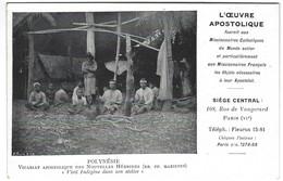 Nouvelles Hébrides - Mission Religieuse - RR PP Maristes - Vieil Indigène Dans Son Atelier - Vanuatu