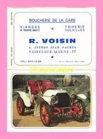CALENDRIER PUBLICITAIRE Boucherie De La Gare R.VOISIN  Vaires Sur Marne 77  (1970) - Calendriers