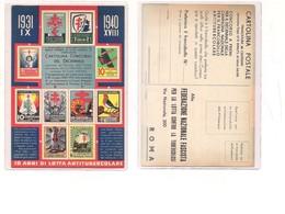 M7587 Cartolina Campagna Antitubercolare 1940 Lotteria Concorso Non Viaggiata - Salute