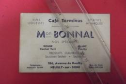 Cafe Terminus  Produits D'auvergne M Bonnal Neuilly Sur Seine - Alimentos