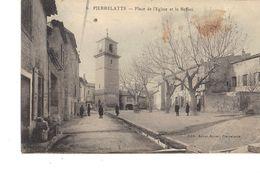 27 PIERRELATTE  PLACE DE L EGLISE ET LE BEFFROI - France