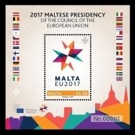 Malta 2017 Mih. 1950 (Bl.71) 2017 Maltese Presidency Of The Council Of The European Union MNH ** - Malte