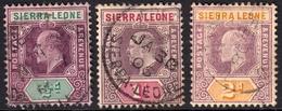 Sierra Leone 1904 1/2d, 1d & 2d SG86-7/89 - Fine Used - Sierra Leone (...-1960)