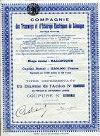Compagnie Des TRAMWAYS Et D'ÉCLAIRAGE ÉLECTRIQUES De SALONIQUE - Railway & Tramway
