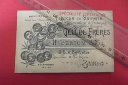 Fabrique De Gainerie Specialite D'etalage Gellee Freres Rue Barbette Paris - Textilos & Vestidos