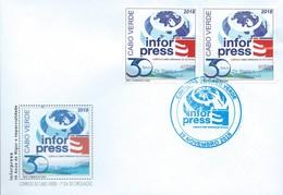 Cabo Verde Cape Verde FDC 30e Aniversario Da INFORPRESS 2018 MNH - Cape Verde