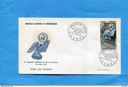 Nouvelle Calédonie-enveloppe FDC-Illustrée -5°journée Météo -SPACE--cad23-03 1965-stap N°A79  Satellite - Nouvelle-Calédonie