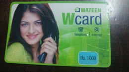 Pakistan-wateen W Card Telephony/internet-(rs.1000)-used Card+1card Prepiad Free - Pakistan