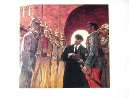 USSR Soviet Russian Poster A4 Lenin And The Red Army 1979 Lénine Et Les Soldats De L'armée Rouge - Posters