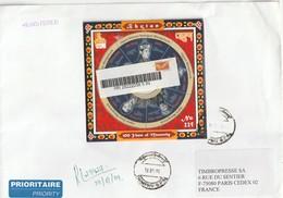 BHOUTAN - LETTRE Recommandé Avec N°1813  CD-ROM Le 19/01/2009 - Bhoutan