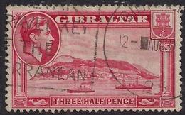 Gibraltar 1938 - 51 KGV1 1 1/2d Carmine The Rock SG 123a CV £30 ( L1355 ) - Gibraltar