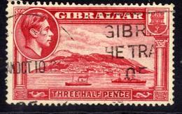Gibraltar 1938 - 51 KGV1 1 1/2d Carmine The Rock SG 123 ( M688 ) - Gibraltar